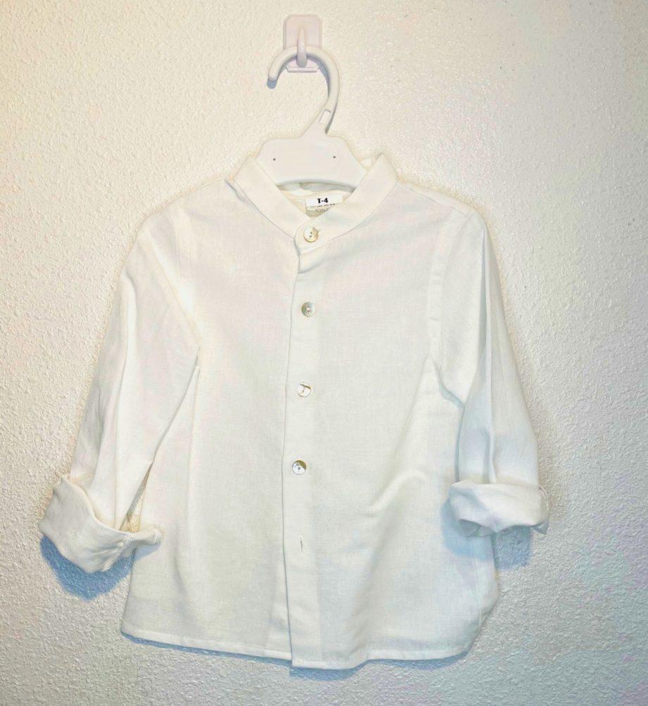 camisa niño lino crudo